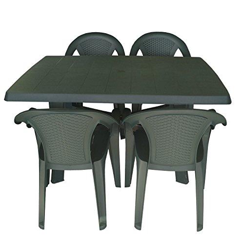 Muebles de jardín Mesa 138x 88cm silla apilable