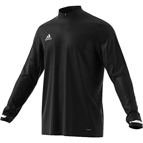 adidas Herren T19 1/4 LS M Long Sleeved T-Shirt, Black/White, 3XL - Front Maillot