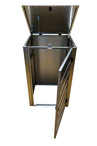 Mülltonnenbox, Modell Eleganza Line, 240 Liter, Zweierbox, in Weiß RAL 9016 - 5