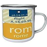 Vuelo Nuevo Roma Italia Retro, lata, taza del esmalte 10oz/280ml m430e