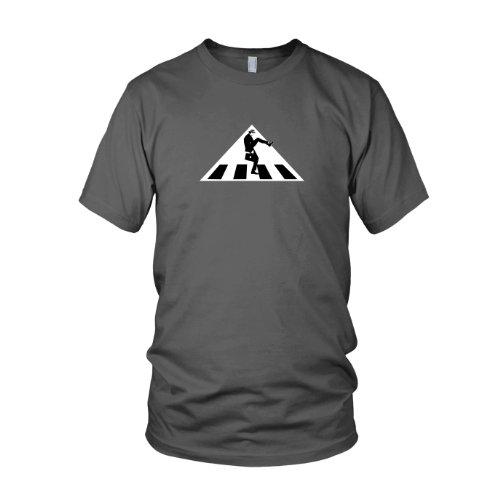 Python Kostüm (Silly Walks Crossing Sign - Herren T-Shirt, Größe: L, Farbe:)