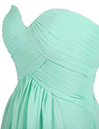 CoutureBridal® Robe Maxi de Soirée Robe Bustier en Chiffon sans Manches Blanc