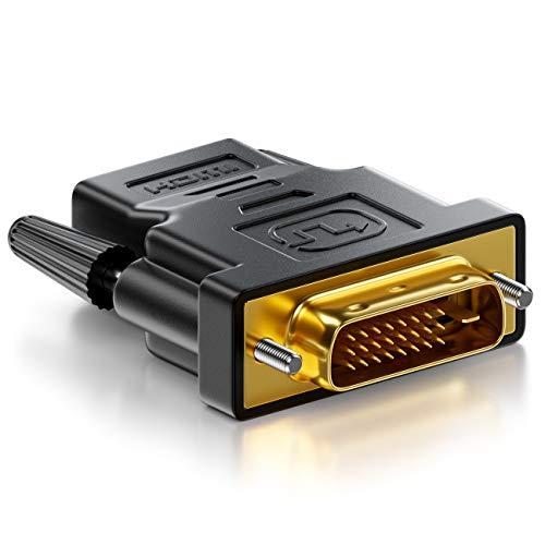 deleyCON HDMI zu DVI Adapter - HDMI Buchse zu DVI Stecker (24+1) (19pol) 1920x1200 1080p - Schwarz - Dvi-buchse