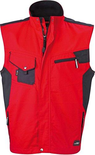 JAMES & NICHOLSON Professionelle Weste mit hochwertiger Ausstattung Red/Black