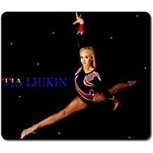 Art Mouse Pads Nastia Liukin 13909 Customized High Quality Eco Friendly Neoprene Rubber Mouse Pad Desktop Mousepad Laptop Mousepads Comfortable Computer Mouse Mat Cute Gaming Mouse pad