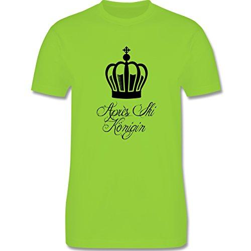 Après Ski - Apres Ski Königin - Herren Premium T-Shirt Hellgrün
