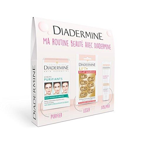 Diadermine Coffret Bonne Mine Baume de Beauté Teinte Naturelle + Strips Purifiant...