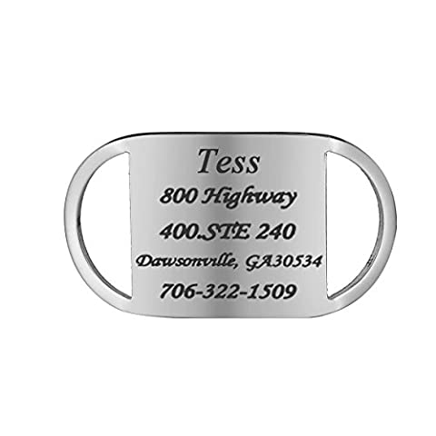 HOUSWEETY Medaille d'Identification en Acier Inoxydable pour Animaux Pet Tag Engraving + Service Gravure Personnalisee