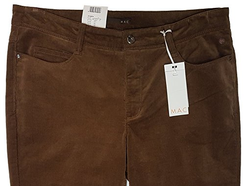 Mac Feincord Angela Cambridge Damen Jeans Hose Cordhose Stretch braun 277, W42 L32 (Cambridge-hose)