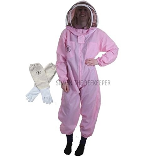Buzz Basic Clôture à combinaison de Bee Apiculteur avec voile et gants - Rose