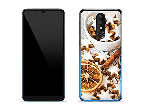 etuo Hülle für Alcatel 3 (2019) - Hülle Foto Case - Lebkuchen Handyhülle Schutzhülle Etui Case Cover Tasche für Handy -