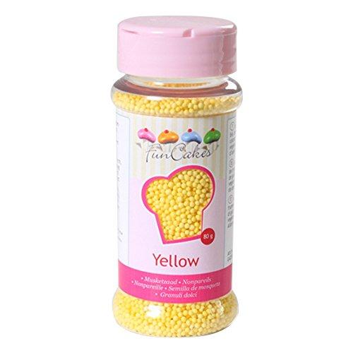 Mini perles jaunes - FunCakes