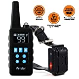 Petutor Waterproof And Rechargeable Dog Training Collar 1800 Ft Remote Shock With Beep/Vibrating/Shock