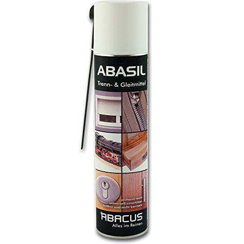 ABASIL Spray 400 ml (3050) - Trennmittel Gleitmittel Trennspray Gleitspray Kunststoffpflege Edelstahlpflege Schmiermittel für Rolläden Türscharnieren - ABACUS