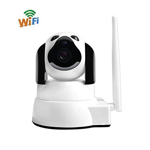 Dome Kamera Überwachungskamera Wifi IP Kamera, UYIKOO Smart Home 720P Kamera mit Nachtsicht, Bewegungsalarm, Auto-Rotation, 2 Wege Audio, Haus Monitor, Outdoor IP Cam, Baby Monitor, App IOS/Android/PC (Baby-auto-video-monitor)