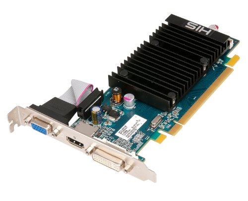 HIS ATI Radeon HD5450 Silence Grafikkarte (PCI-e, 1GB DDR3 Speicher, DVI, HDMI)