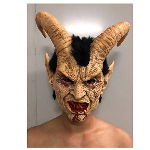 YAX Masken Halloween Kopf Gesicht Der Hirschmaske Requisiten Erwachsenenmaske Latex - Luzifer Für Erwachsenen Kostüm