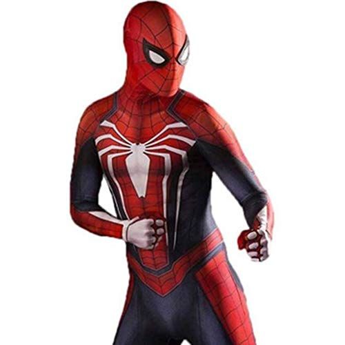 YUNMO Fun Ausrüstung Game Movie Charakter Spider-Man Anzug Cosplay Kostüm Erwachsene siamesische eng anliegende Halloween Masked Prom (Color : A, Size : L)