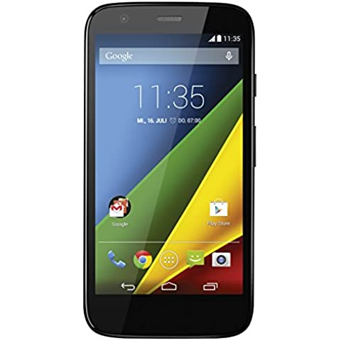 Motorola Moto G Smartphone (11,4 cm (4,5 Zoll) HD-Display, 5 Megapixel Kamera, 1,2 GHz Quad-Core-Prozessor, 4G LTE, 1GB RAM, 8 GB interner Speicher, Micro-SIM-Steckplatz, Android 4.4.3 Kitkat OS) schwarz