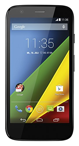 Motorola Moto G Smartphone (11,4 cm (4,5 Zoll) HD-Display, 5 Megapixel Kamera, 1,2 GHz Quad-Core-Prozessor, 4G LTE, 1GB RAM, 8 GB interner Speicher, Micro-SIM-Steckplatz, Android 4.4.3 Kitkat OS) schwarz Motorola Cdma Mobile