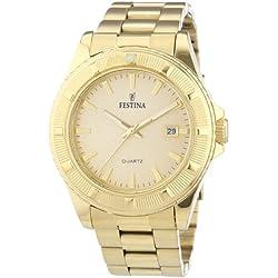 University Sports Press F16682/2 - Reloj de cuarzo para hombre, con correa de acero inoxidable, color dorado