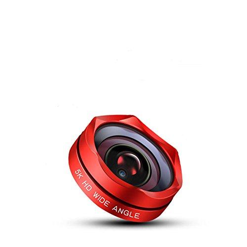HJG Camera Lens Kit, Keine Dunklen Kreise, Super Weitwinkel 5K HD Kamera Ohne Verzerrung SLR Objektiv, Für Universal Smartphones Video Selfie Schwarz,Red