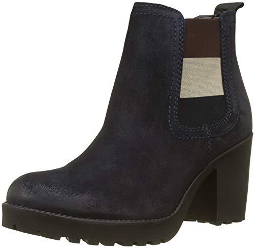 Denim-heels (Hilfiger Denim Damen Essential MID Heel Chelsea Boots, Blau (Midnight 403), 40 EU)
