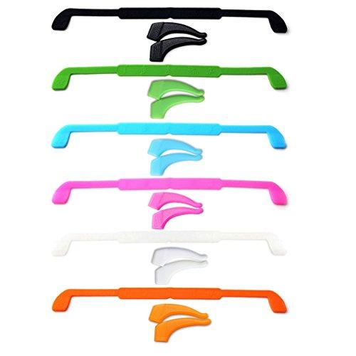moneil Kinder Sport Schlüsselanhängerform Gurt Halter, 6Stück Premium Grade bequemer Silikon Schlüsselanhängerform Gurt Eyewear Retainer Sport-elastisch Anti-Rutsch Gläser Sonnenbrille Kordel Halter für Kinder