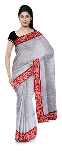 Srabani's Boutique Bengal Handloom Jute Silk Saree (Off White)