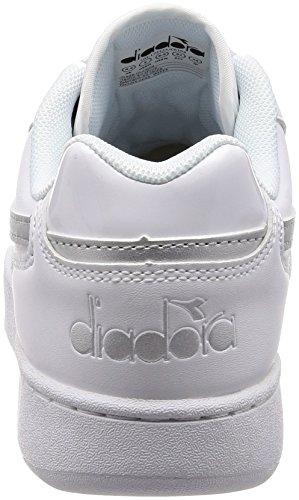 Diadora Playground Wn, Sneaker Donna Bianco (Bianco Argento)