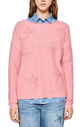 ESPRIT Damen Pullover 127EE1I002 Rosa (Pink 670) Medium