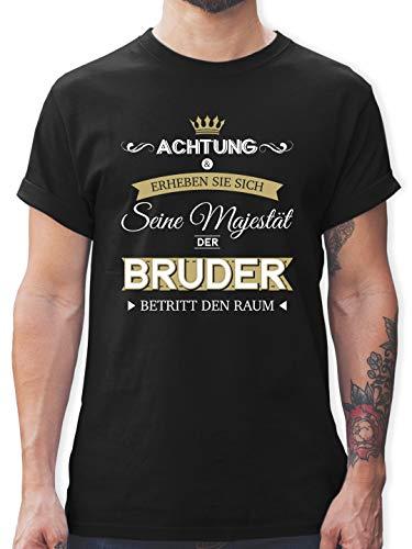 Bruder & Onkel - Seine Majestät der Bruder - XL - Schwarz - L190 - Tshirt Herren und Männer T-Shirts