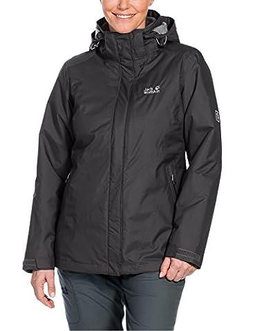 Jack Wolfskin Damen 3-in-1 Jacke Arborg Jacket, Dark Steel, L, 1105701-6032004