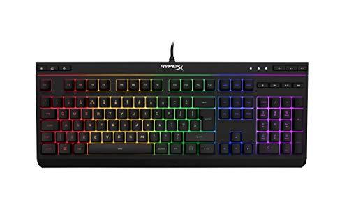 HyperX HX-KB5ME2-DE Alloy Core RGB Membrane Gaming Tastatur (QWERTZ deutsches Layout) Schwarz