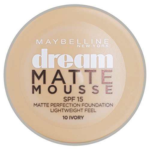Maybelline Foundation Ivory (Maybelline Dream Matte Mouse Foundation (10 Ivory) 18 ml)