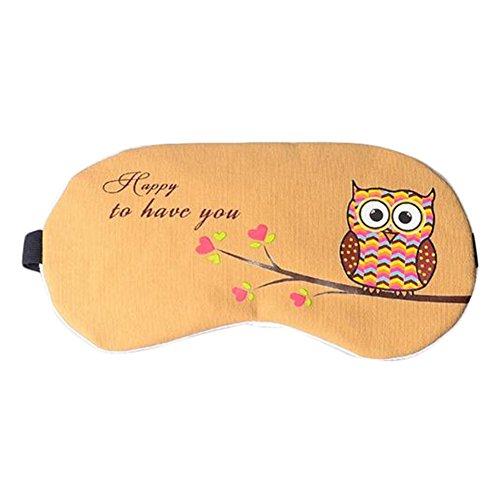 hlafen Nettes Süße Eule Schlaf Kalt Warmhaltepackung Gemütlich Augenmaske Schlafen Masken ,Mit Eisbeutel (D) (Eule Masken)