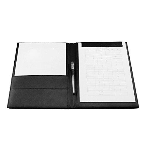 Aktenmappe, Schreibmappe, kremmbrettmappe, blockmappe, Konferenzmappe mit integriertem Klemmbrett A4