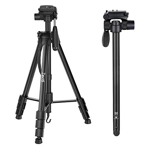 """Treppiede da Viaggio Zecti 70"""" Treppiedi e Monopiedi per Canon NiKon Videocamera DV Fotocamera DSLR con Custodia Trasporto"""