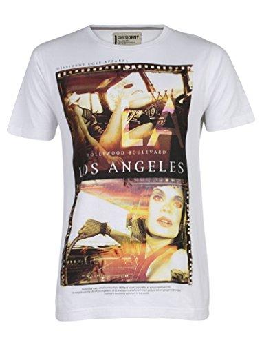 Dissident Herren Girls Car Grafik Druck Kurzärmlig T-Shirt Größe S-XL Weiß