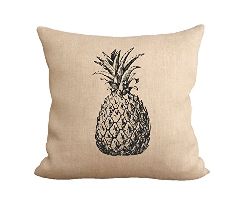 Unbekannt B Lyster Shop Ananas J115Baumwolle & Polyester Soft Reißverschluss Kissen Werfen Fall Kissen Schutzhülle (Werfen Kissen Ananas)