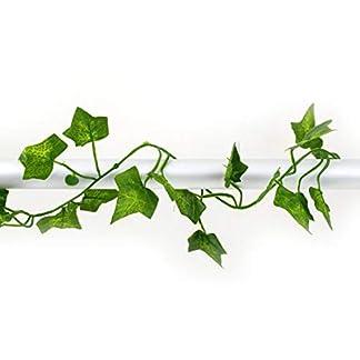 2m Artificial Hiedra Hoja del follaje Flores Inicio Casa de Las Plantas del jardín Festival Garland Decoración Evergreen Cirrus