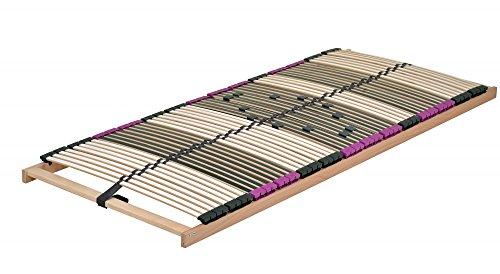 DaMi Lattenrost Premium NV (Zerlegt) 100 x 200 cm - 7 Zonen Lattenrahmen Aus Buche Mit 6-Fach Härteverstellung - Starr