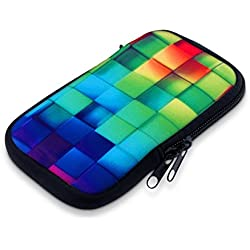 "kwmobile 30226.2.04 Funda para teléfono móvil 14 cm (5.5"") Azul, Verde, Fundas para teléfonos móviles (Funda, 14 cm (5.5""), Azul, Verde"