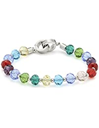 Leonardo Jewels Darlin's - Pulsera de acero inoxidable (19.5 cm)