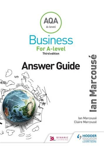 AQA business for A level (Marcouse'). Answer guide
