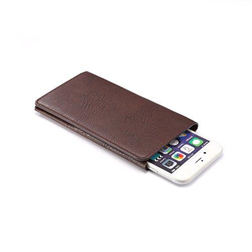 Copertura del telefono in pelle PU multifunzionale Adatto per iphone X ,Huawei P9,Huawei P8 Smartphone (5.3-Pollice Nero) Marrone