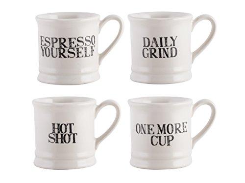 Creative Tops Stir It Up 4-teiliges Set Espresso Tassen,  60 ml (2 fl oz.) -