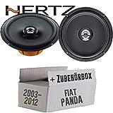 Hertz DCX 165.3-16cm Koax Lautsprecher - Einbauset für Fiat Panda 169 Heck - JUST SOUND best choice for caraudio
