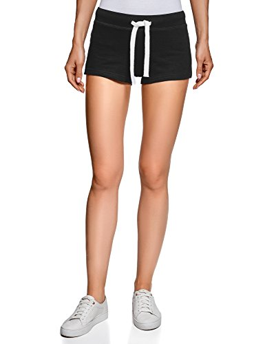 oodji Ultra Damen Jersey-Shorts Basic (5er-Pack), Schwarz, DE 42 / EU 44 / XL