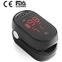 CEREZAS Oxymètre de Pouls Numérique avec Affichage à LED avec SpO2, Fréquence du Pouls et Oxymètre de Doigt du Moniteur de Fréquence Cardiaque PI pour Adultes et Enfants (Approuvé par la FDA/CE)